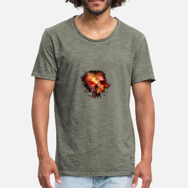 Surrealism Surreal skull - Men's Vintage T-Shirt