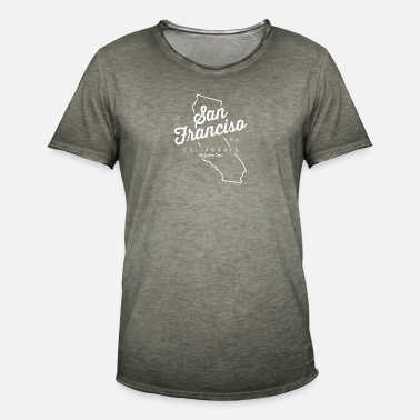 California Del Sur San Francisco Californie - Camiseta vintage hombre