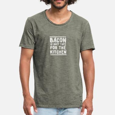 Grappige Duct Tape Bacon is duct tape voor de keuken - Mannen Vintage T-shirt
