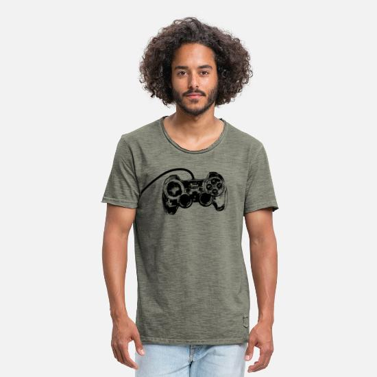 Collection T-Shirts - Gamer - Men's Vintage T-Shirt vintage khaki