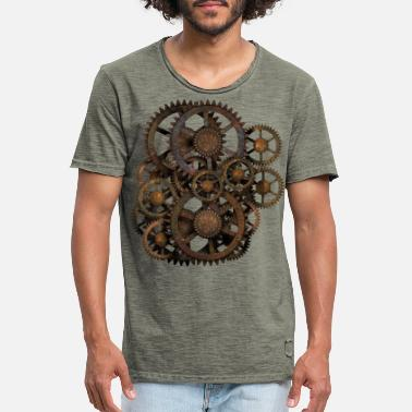 Steampunk Steampunk Gears on your Gear - Men's Vintage T-Shirt