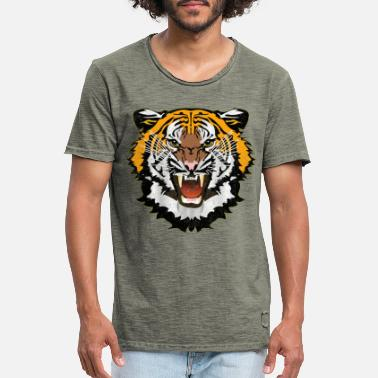 Bad Look Tiger Graphic Used Look Bad Look T-Shirt - Men's Vintage T-Shirt