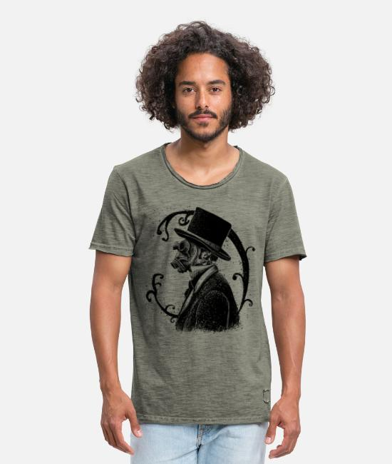 Vintage Collection T-shirts - Smog - Mannen vintage T-shirt vintage khaki