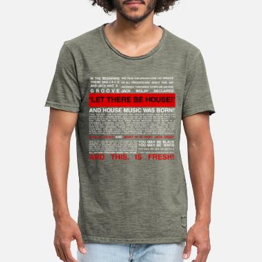 House Music HOUSE MUSIC LOVERS - Men's Vintage T-Shirt