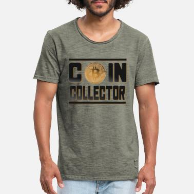 Coin Bitcoin - Coin Collector Bitcoin Coin - Vintage T-shirt herr