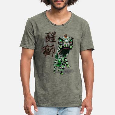 Chinese New Year Chinese Lion Dance - Green Black - Men's Vintage T-Shirt