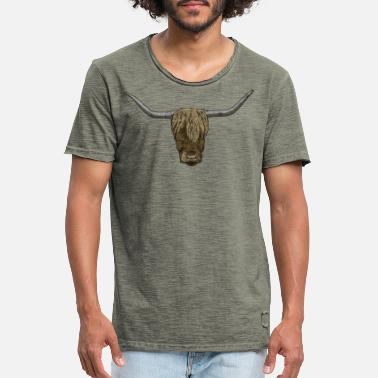 Central Asia Ox / bull / yak / buffalo - Men's Vintage T-Shirt