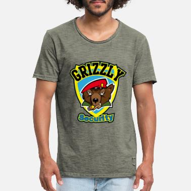 Grizzly Grizzly Security - Männer Vintage T-Shirt
