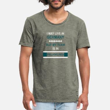 Philadelphia Eagles My team is in Philadelphia | Eagles fan design - Men's Vintage T-Shirt