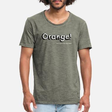 Orange Orange! - Vintage T-shirt mænd