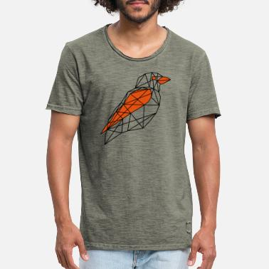 Vogel Abstrakte/Polygon Vektorgrafik Orange - Männer Vintage T-Shirt