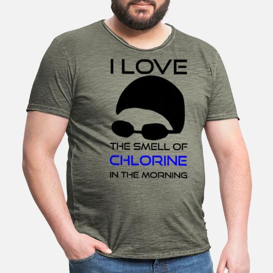Svøm klor T skjorte for menn   Spreadshirt