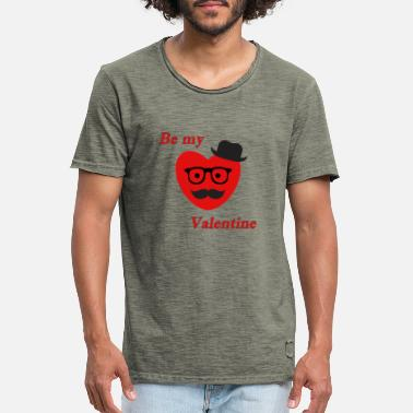 Be My Valentine Be my Valentine - Männer Vintage T-Shirt