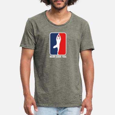 Major League Major League Yoga - Männer Vintage T-Shirt