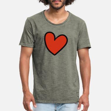Crook crooked heart - Men's Vintage T-Shirt