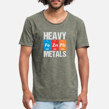 Metal Heavy Metals Periodic Table - Men's Vintage T-Shirt