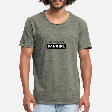 Prominente Fan jente - Fan Star Prominent - Funny saying - Vintage T-skjorte for menn