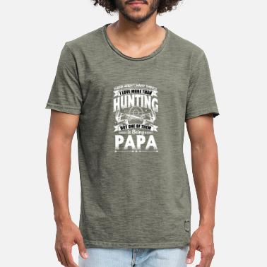 57614385 Hunters / Dad / Father's Day / Hunting Papa - Men&#. New. Men's Vintage  T-Shirt. Hunters / Dad / Father's ...