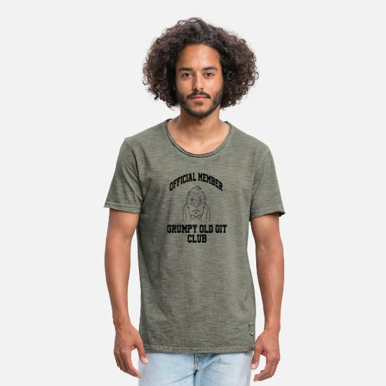 Old Fashioned T-Shirts - Grumpy Old Git Birthday for Dad Grandad Uncle - Men's Vintage T-Shirt vintage khaki