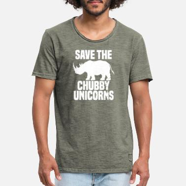 Save Save The Chubby Unicorns saying - Men's Vintage T-Shirt