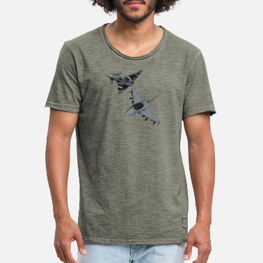 Fighter Jet Fighter jet plane jet jet military fighter jet - Men's Vintage T-Shirt