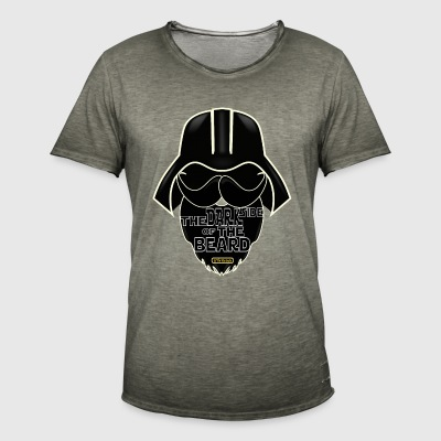 Darkside - Vintage-T-skjorte for menn