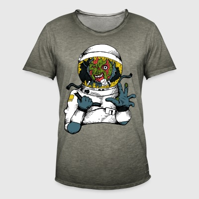 Space virus - Vintage-T-shirt herr