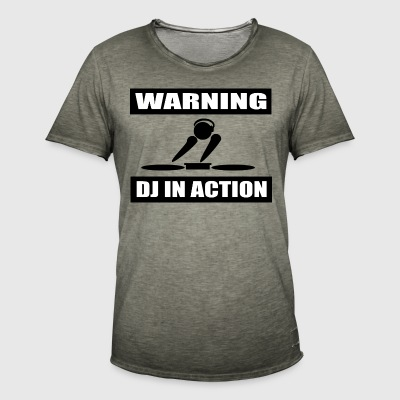 DJ ACTION - Vintage-T-skjorte for menn