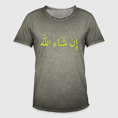 in sha allah so gott will - Männer Vintage T-Shirt