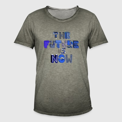 future is now bleau - Camiseta vintage hombre