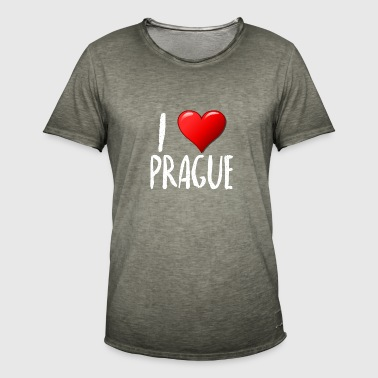I Love Prague - Männer Vintage T-Shirt