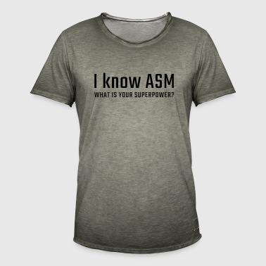I know ASM - Men's Vintage T-Shirt