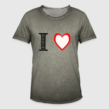I love, black red white - Men's Vintage T-Shirt