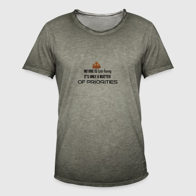 Priorities - Men's Vintage T-Shirt