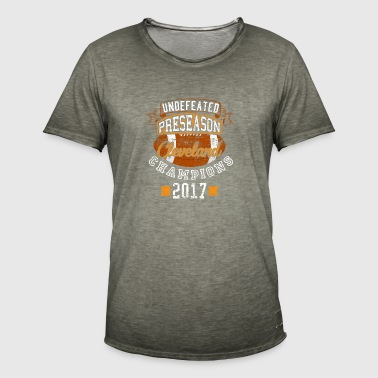 Undefeated Preseason Cleveland Fodbold Champions - Herre vintage T-shirt