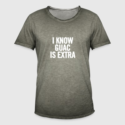 I Know Guac Is Extra White - Camiseta vintage hombre