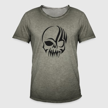 tribal skull - Vintage-T-skjorte for menn