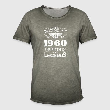 La vida comienza en 57 1960 The Birth Of Legends - Camiseta vintage hombre