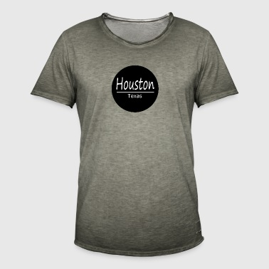 Houston - Vintage-T-skjorte for menn
