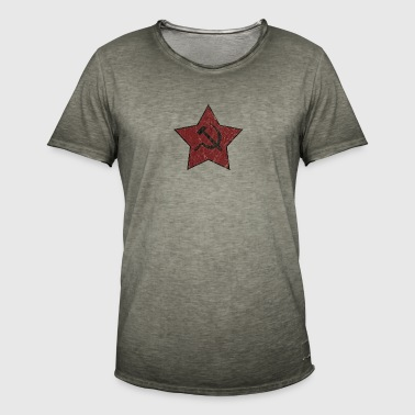 HAMMER AND SICKLE USED LOOK - Men's Vintage T-Shirt