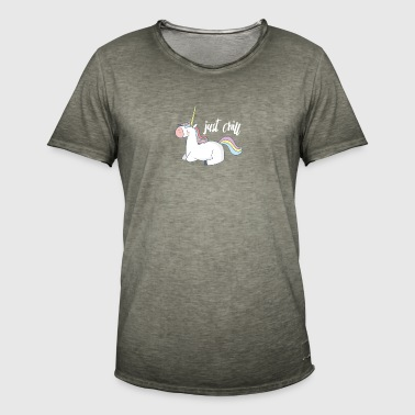 Chill Unicorn Relax Rainbow Gift Fantasy - Men's Vintage T-Shirt