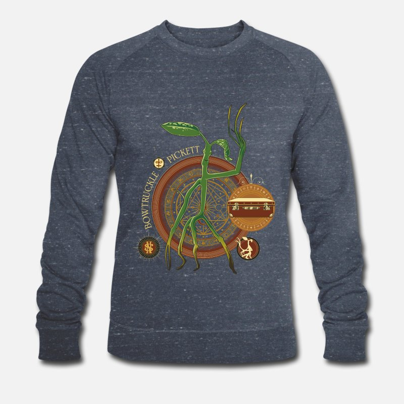 World Sweaters - Fantastic Beasts Bowtruckle Pickett - Mannen bio sweater navy gemêleerd