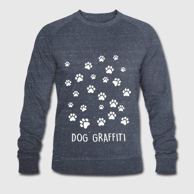 dog graffiti - Men's Organic Sweatshirt by Stanley & Stella
