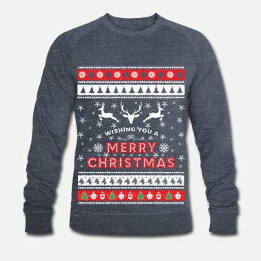 Christmas Ugly Christmas Sweater - Merry Christmas - Männer Bio Pullover