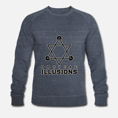 Optisk Illusion Optiske illusioner - Økologisk Stanley & Stella sweatshirt til herrer