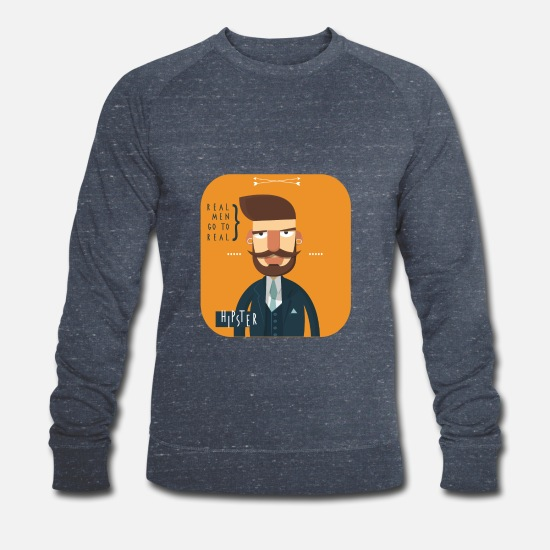 Hipster Hoodies & Sweatshirts - hipster - Men's Organic Sweatshirt heather navy