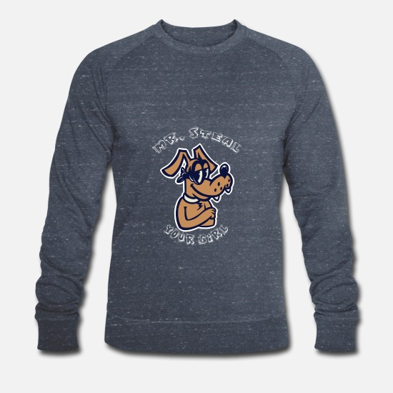 Gift Idea Hoodies & Sweatshirts - Mr. Steal your girl - dog - gift - Men's Organic Sweatshirt heather navy