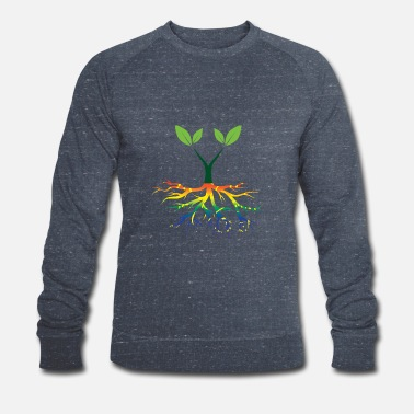 Nature Conservation Nature - Rainbow - Conservation - Roots - Men's Organic Sweatshirt