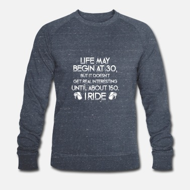 Rude Life gets interesting at 150 - poison - Men's Organic Sweatshirt by Stanley & Stella