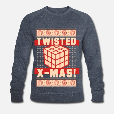 Rubik's Cube Twisted X-Mas - Men's Organic Sweatshirt by Stanley & Stella
